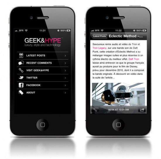 Geek&#038;Hype for iPhone