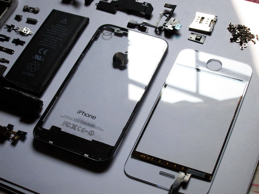 how to change glass on iphone 4