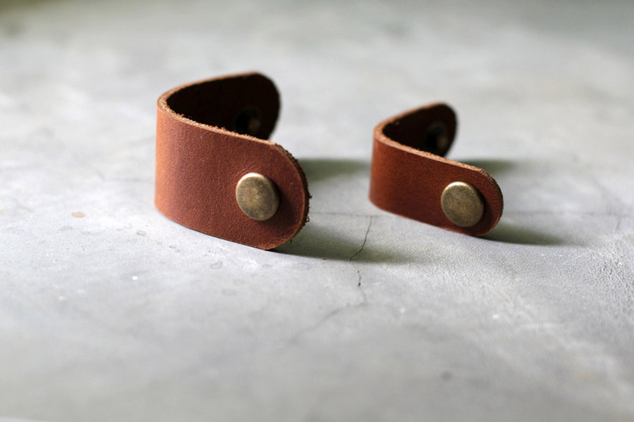 Leather Cable Bands