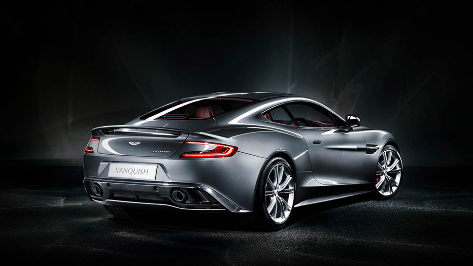 Aston Martin Vanquish grey back