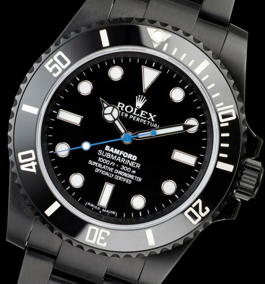 BWD Rolex blacked-out Submariner