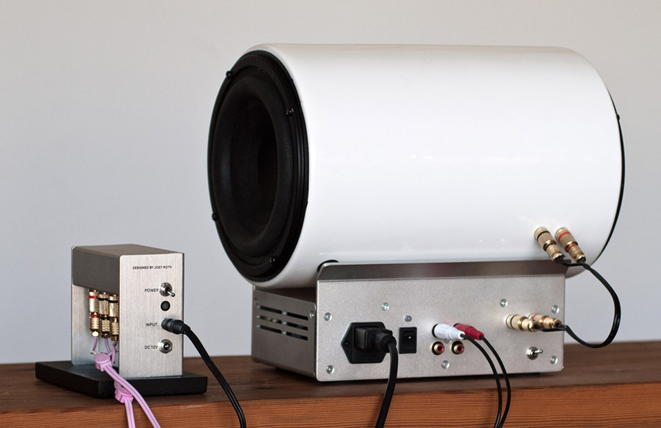 Joey Roth Ceramic Subwoofer and amplifier